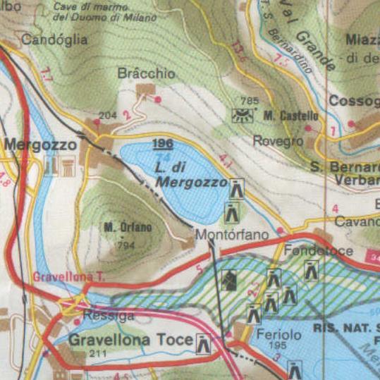 Cartina Lago Maggiore Stradale.Cartine Del Lago Maggiore