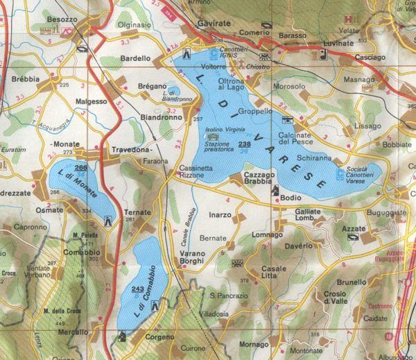 Varese Cartina.Cartine Del Lago Di Varese